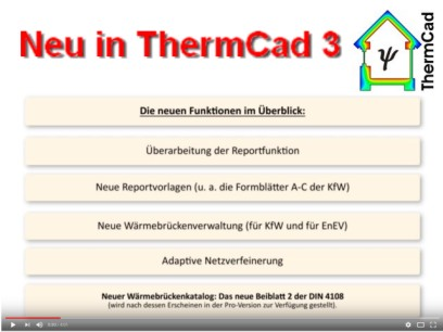 neu in ThermCad 3